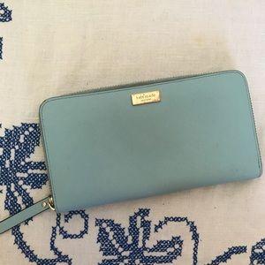 Kate Spade blue zipper wallet